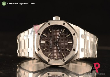 AUDEMARS PIGUET ROYAL OAK 41 4302 1:1 CLONE Grey DIAL STEEL CASE AND BRACELET REF. #15500ST.OO.1220ST.04