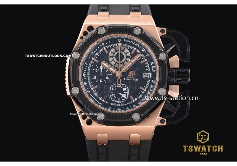 Ap21670 ap royal oak offshore chronograph survivor rg ru japan quartz for Royal oak offshore survivor