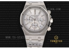IC22933 - AP ROO Chrono 42mm White Dial Full SS Japan VK Quartz