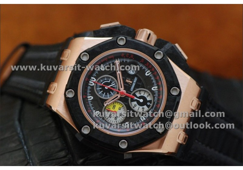 1 1 Audemars Piguet Royal Oak Offshore Grand Prix Rose Gold Red