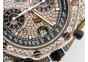 Royal Oak Offshore RG Full Paved Diamonds JF Best Edition on Black Leather Strap A7750