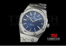 AP15911 - Royal Oak Jumbo JHF 41mm Blue Check Dial Diamond SS Asian 2813
