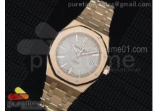 Royal Oak 37mm 15450 RG JF 1:1 Best Edition Gray Dial on RG Bracelet A3120