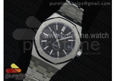 Royal Oak 37mm 15450 SS JF 1:1 Best Edition Black Dial on SS Bracelet A3120