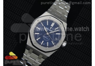 Royal Oak 37mm 15450 SS JF 1:1 Best Edition Blue Dial on SS Bracelet A3120