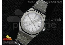 Royal Oak 37mm 15450 SS JF 1:1 Best Edition Silver Dial on SS Bracelet A3120