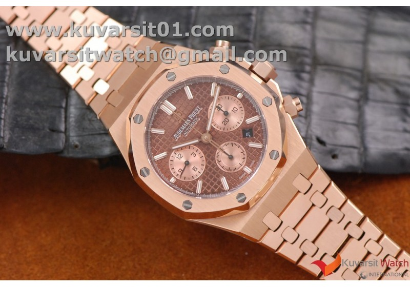 Audemars Piguet Royal Oak 41mm Chronograph Rose Gold Brown